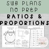 Sub Plans: 7th grade math ratio and proportions unit