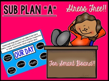 "Sub Plans ""A"" for Smart Board use"