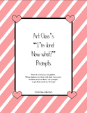 9 Printable Art Prompts for Elementary Class, Can be used