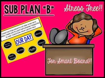 """Sub Plans """"B"""" for Smart Board Use"""