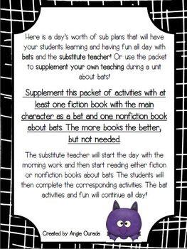 Sub Plans: Bats!