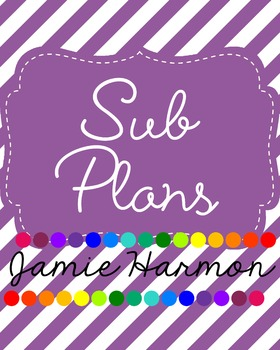 Sub Plans Binder Cover