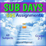 Sub Plans Bundle | 595 Assignments | All Subjects (Gr. 3-7)