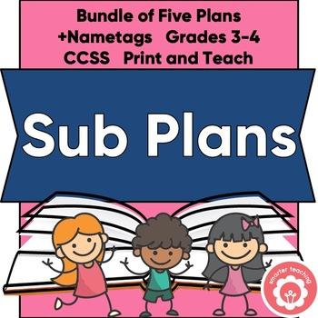 1-3 Day Sub Plans Bundle