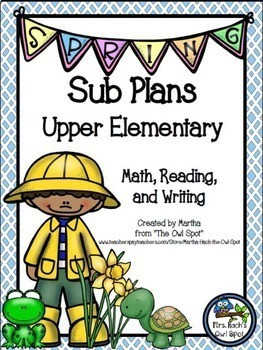 Sub Plans Bundle - Perfect for Intermediate Grades