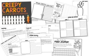 Substitute Lesson Plans - Creepy Carrots Themed Sub Plans