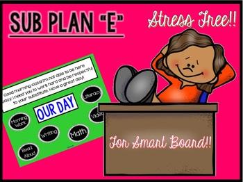 """Sub Plans """"E"""" for Smart board Use"""