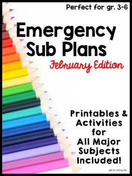 Sub Plans: February Edition