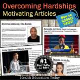 Distance Learning, Sub Plans OR Teach in Class Motivating Articles for Teens!