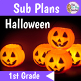 Halloween Activities for 1st Grade Sub Plans