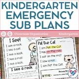 Sub Plans Kindergarten