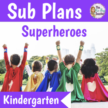 Kindergarten Sub Plans 3 Full Days