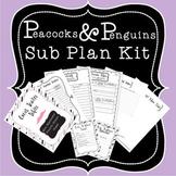 Sub Plans Kit - Mustache Theme
