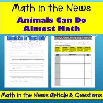 "Math In the News:  Animals Can do ""Almost"" Math"