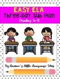 Sub Plans: Middle School ELA 3-Day Plan