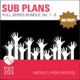 Sub Plans BUNDLE! Middle School / High School: Vol 1-5
