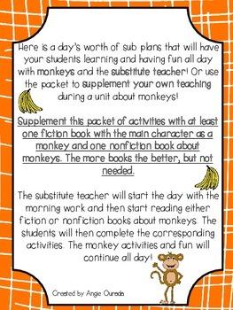 Sub Plans: Monkeys!