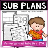 Substitute Teacher Activities for 4th Grade