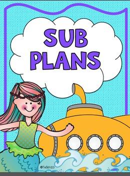 Sub Plans Ocean Substitute Binder