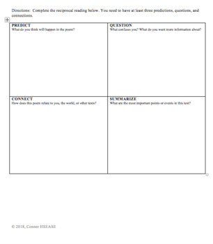 Sub Plans, OR End of Year Plans, OR Shakespeare Poem Activity Lesson