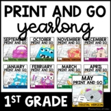 Sub Plans | Review Worksheets | FIRST GRADE | Digital Lear