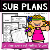 Substitute Lesson Plans and Activities for 3rd Grade Sixties Theme