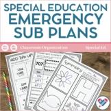 Sub Plans Special Education