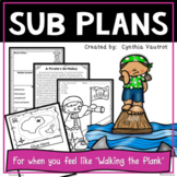 Sub Plans - Substitute Lesson Plans for 3rd Grade Pirates