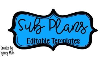 Sub Plans Template
