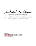Substitute Plans Template [Editable]