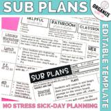 Sub Plans Template (Editable)