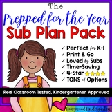 """HUGE collection of Sub Plans! The """"Prepared for the YEAR Pack!"""""""