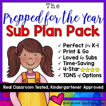 "Sub Plans . The ""Prepared for the YEAR Pack!""  UPDATED: 10+ DAYS of Activities!"