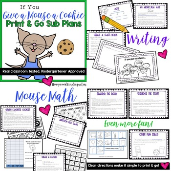 Sub Plans! A Wonderful Week's Worth of Activities!  5 days, 4 great books!