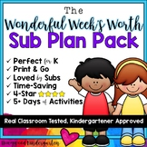 Sub Plans ... A Wonderful Week's Worth of Activities!  7 d