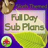 Sub Plans (Sloth Themed)