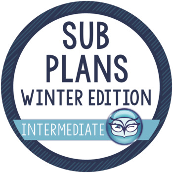 Emergency Sub Plans - Winter Edition for Intermediate Grades