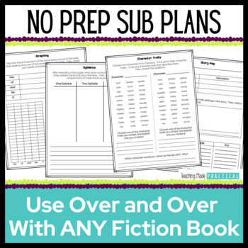 No Prep Emergency Sub Plans - Reusable Activities for 3rd, 4th, and 5th Grade
