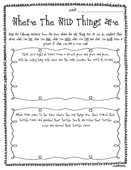 Sub Plans: Where the Wild Things Are by Maurice Sendak