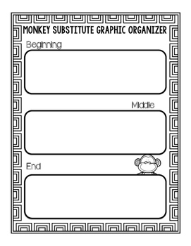 #presidentsdaydeals Sub Plans - Writing and Craftivity- Monkey Substitute