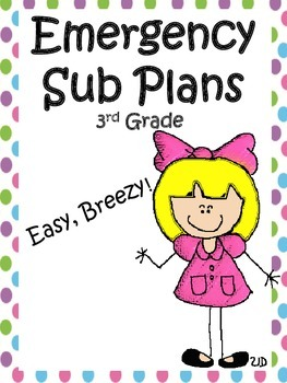 Substitute Plans for 3rd Grade