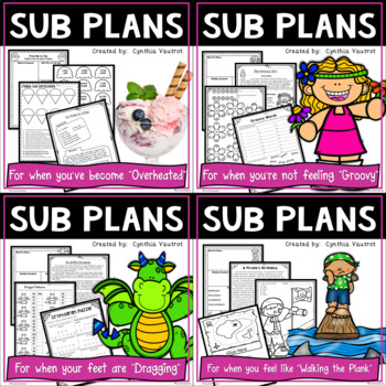 Sub Plans for 3rd Grade