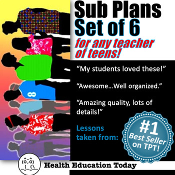 Sub Plans SUPER BUNDLE: 6 Impacting Lessons for Teachers of Any Subject