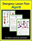 Sub Plans for April (Emergency Lesson Plans)