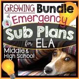 Sub Plans for ELA Growing Bundle