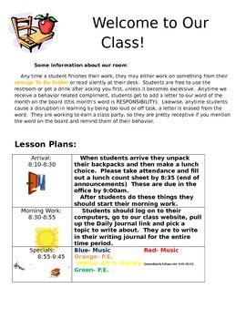 Sub Plans for Elementary