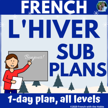 Sub Plans for French Class: Winter Vocabulary