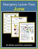 Sub Plans for June (Emergency Lesson Plans)