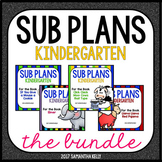Sub Plans for Kindergarten BUNDLE