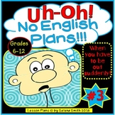 Sub Plans for Middle School and High School English #3